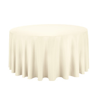 Tablecloth 220cm Round Cream Caress Feather leaf