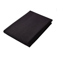 Tablecloth 180cm x 180cm Black Plain Caress